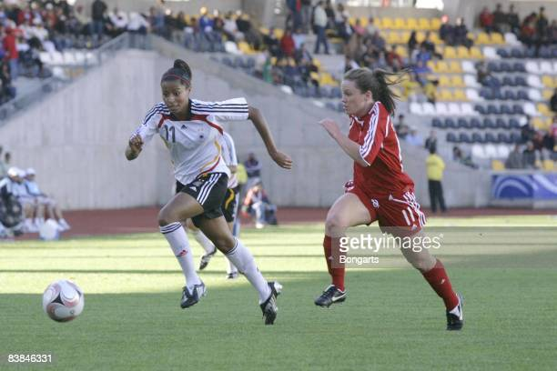 Nicole Banecki of Germany during the FIFA U20 Women's World Cup 2008 match against Canada U20 at the Estadio Francisco Sanchez Rumoroso on November...