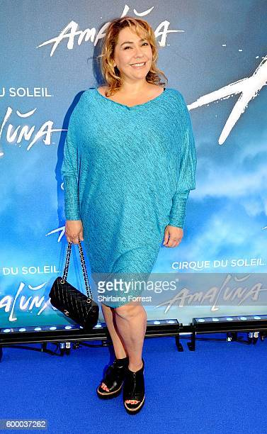 Nicole BarberLane arrives at the press night for Cirque Du Soleil's 'Amaluna' at The Big Top Intu Trafford Centre on September 7 2016 in Manchester...