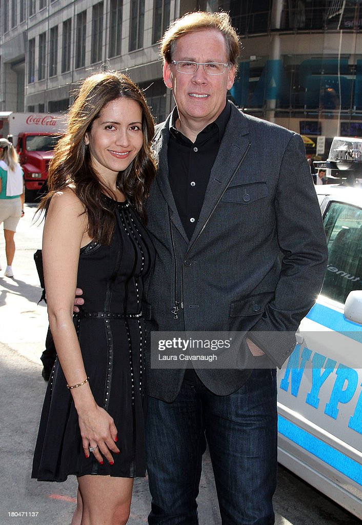 Nicole Birkhold and Steve Birkhold, CEO of Bebe Stores, Inc. rings the opening bell at NASDAQ Market Site on September 13, 2013 in New York City.