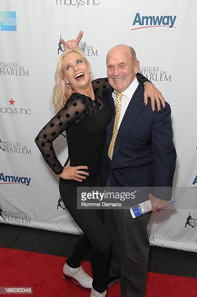 Nicole Bobek and Dick Button attend The 2013 Skating With The Stars Benefit Gala at Trump Rink at Central Park on April 8 2013 in New York City