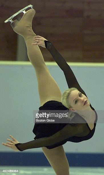 Nicole Bobek goes through her routine during a Olympic practice session