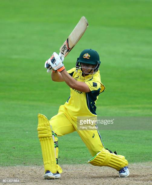 Nicole Bolton of Australia bats during the ICC Women's World Cup 2017 match between Australia and West Indies at The Cooper Associates County Ground...