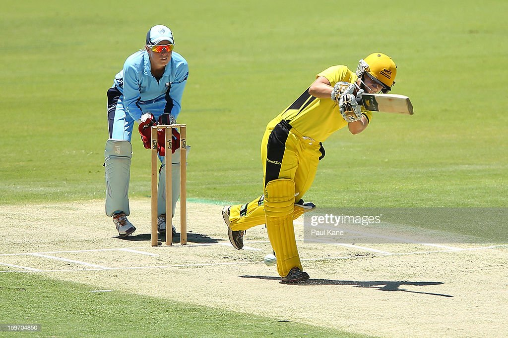 Nicole Bolton of the Fury bats during the women's Twenty20 final match between the NSW Breakers and the Western Australia Fury at WACA on January 19, 2013 in Perth, Australia.