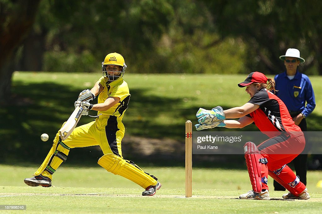 Nicole Bolton of the Fury during the WNCL match between the Western Australia Fury and the South Australia Scorpions at Christ Church Grammar Playing Fields on December 8, 2012 in Perth, Australia.