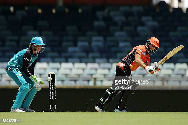 Nicole Bolton of the Scorchers bats during the WBBL match between the Brisbane Heat and Perth Scorchers at WACA on December 17 2016 in Perth Australia