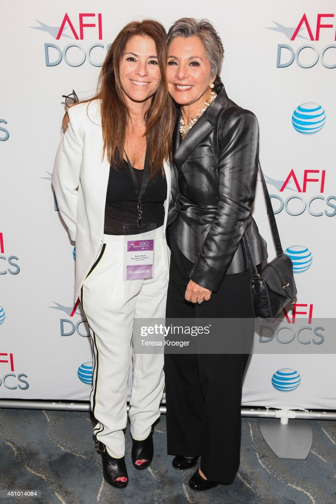 Nicole Boxer (L) and Senator <a gi-track='captionPersonalityLinkClicked' href=/galleries/search?phrase=Barbara+Boxer&family=editorial&specificpeople=169888 ng-click='$event.stopPropagation()'>Barbara Boxer</a> (D-CA) attend a reception following a screening of 'How I Got Over' during the AFI DOCS Documentary Film Festival at the Naval Heritage Center Theater on June 21, 2014 in Washington, DC.