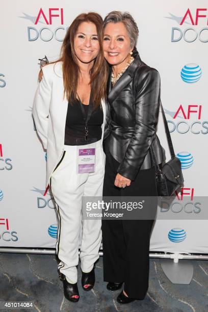Nicole Boxer and Senator Barbara Boxer attend a reception following a screening of 'How I Got Over' during the AFI DOCS Documentary Film Festival at...