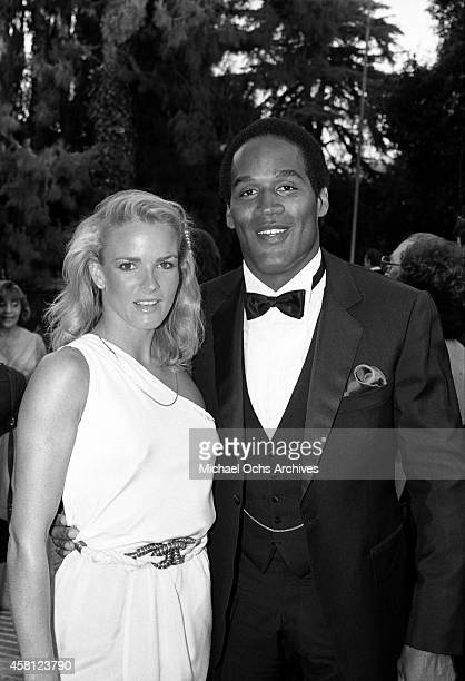 Nicole Brown and OJ Simpson attend a function circa 1984 in Los Angeles California