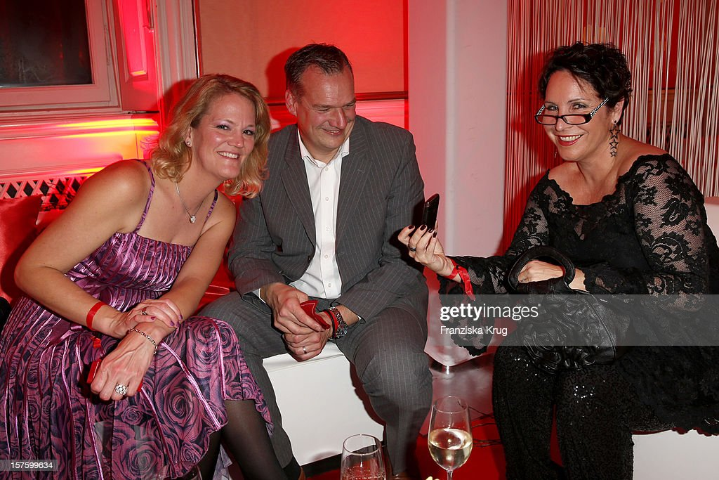 Nicole Bruehl, Thomas Deppisch and Katharina Jacob attend the Barbara Tag 2012 on December 04, 2012 in Munich, Germany.