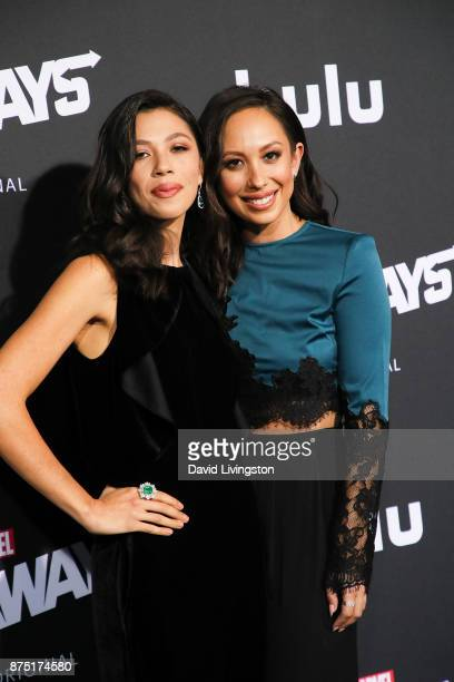 Nicole Burke and Cheryl Burke arrives at the premiere of Hulu's 'Marvel's Runaways' at the Regency Bruin Theatre on November 16 2017 in Los Angeles...