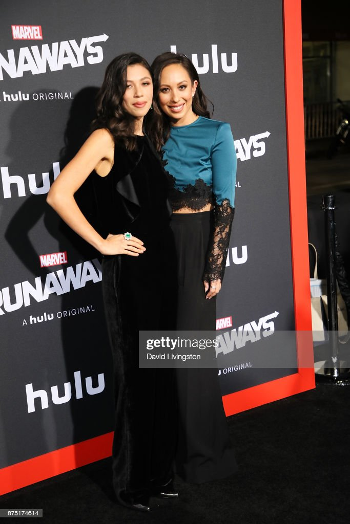 Nicole Burke and Cheryl Burke arrives at the premiere of Hulu's 'Marvel's Runaways' at the Regency Bruin Theatre on November 16, 2017 in Los Angeles, California.