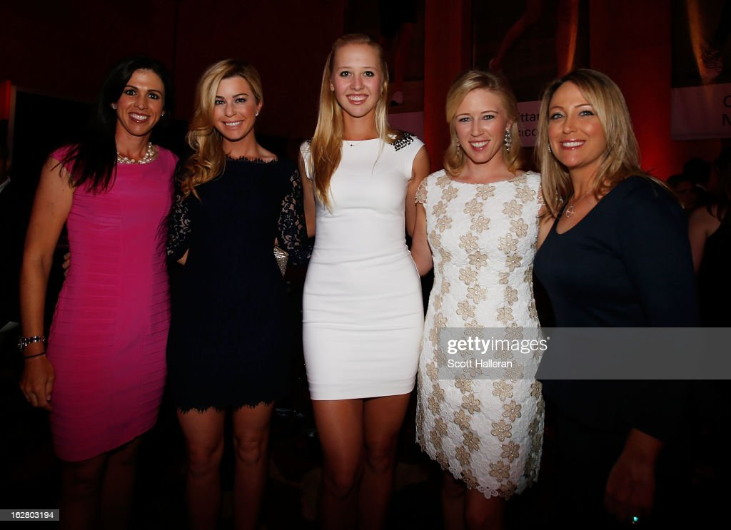 Nicole Catrale, <a gi-track='captionPersonalityLinkClicked' href=/galleries/search?phrase=Paula+Creamer&family=editorial&specificpeople=209411 ng-click='$event.stopPropagation()'>Paula Creamer</a>, <a gi-track='captionPersonalityLinkClicked' href=/galleries/search?phrase=Jessica+Korda&family=editorial&specificpeople=5410628 ng-click='$event.stopPropagation()'>Jessica Korda</a>, <a gi-track='captionPersonalityLinkClicked' href=/galleries/search?phrase=Morgan+Pressel&family=editorial&specificpeople=213164 ng-click='$event.stopPropagation()'>Morgan Pressel</a> and <a gi-track='captionPersonalityLinkClicked' href=/galleries/search?phrase=Cristie+Kerr&family=editorial&specificpeople=213495 ng-click='$event.stopPropagation()'>Cristie Kerr</a> of the USA pose together at the welcome reception after the pro-am prior to the start of the HSBC Women's Champions at the Marina Sands on February 27, 2013 in Singapore, Singapore.