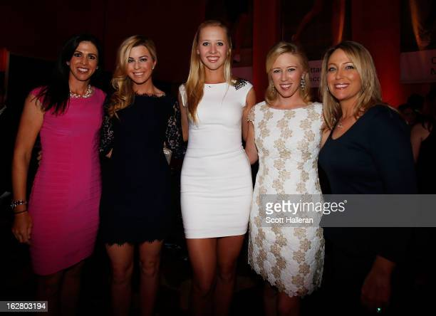 Nicole Catrale Paula Creamer Jessica Korda Morgan Pressel and Cristie Kerr of the USA pose together at the welcome reception after the proam prior to...