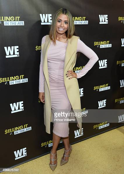 Nicole Chapelle attends 'WE tv' Selling It In the ATL' Premiere' at Woodruff Arts Center on November 3 2015 in Atlanta Georgia