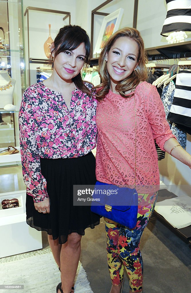 Nicole Chavez and Vanessa Lengies attend the LOFT Pop-Up On Robertson event on March 12, 2013 in Los Angeles, California.
