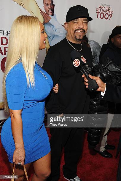 Nicole 'Coco' Austin and actor/rapper IceT attend the premiere of 'Why Did I Get Married Too' at the School of Visual Arts Theater on March 22 2010...