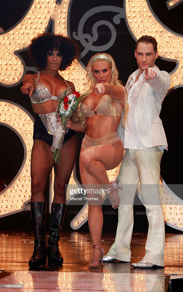 Nicole <a gi-track='captionPersonalityLinkClicked' href=/galleries/search?phrase=Coco+Austin&family=editorial&specificpeople=207511 ng-click='$event.stopPropagation()'>Coco Austin</a> makes her grand debut as the star of 'Peepshow' at Planet Hollywood on December 17, 2012 in Las Vegas, Nevada.