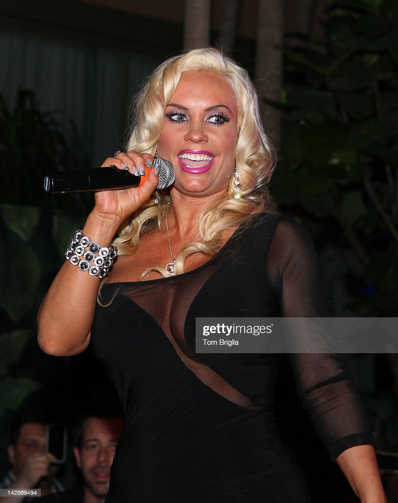 Nicole 'Coco' Austin performs live on stage while hosting The Pool After Dark at Harrah's Resort on Saturday April 7, 2012 In Atlantic City New Jersey.