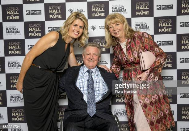 Nicole Coghlan Ian and Kathryn MacDonald at Federation Square on May 19 2017 in Melbourne Australia