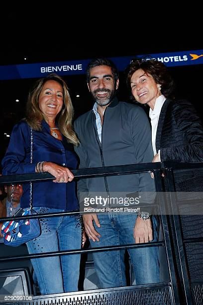 Nicole Coullier Actor Ary Abittan and Manager of Dior Montaigne Sylvie Rousseau attend the Michel Polnareff New Tour in France at AccorHotels Arena...