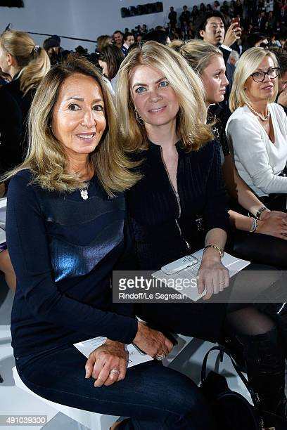Nicole Coullier and Arielle de Rothschild attends the Christian Dior show as part of the Paris Fashion Week Womenswear Spring/Summer 2016 Held at...