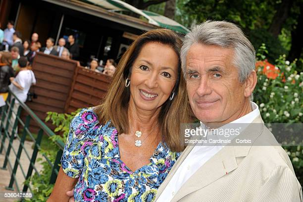 Nicole Coullier and Gilbert Coullier at Roland Garros Village in Paris