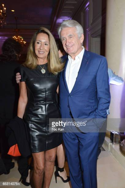 Nicole Coullier and Gilbert Coullier attend 'La Recherche en Physiologie' Charity Gala at Four Seasons Hotel George V on March 13 2017 in Paris France