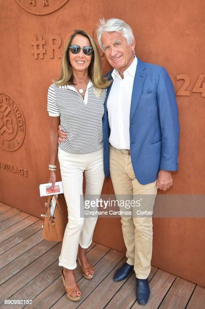 Nicole Coullier and Gilbert Coullier attend the 2017 French Tennis Open Day Four at Roland Garros on May 31 2017 in Paris France