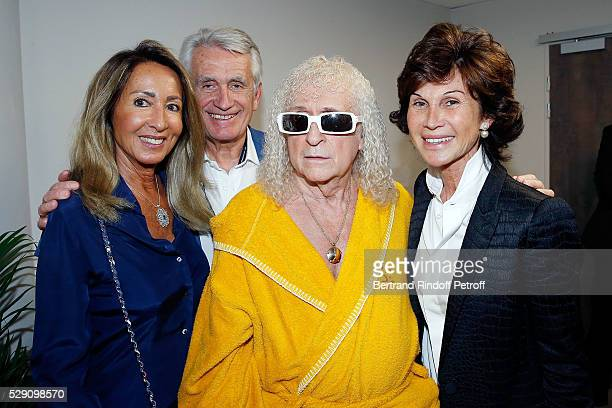 Nicole Coullier Gilbert Coullier Michel Polnareff and Sylvie Rousseau attend the Michel Polnareff New Tour in France at AccorHotels Arena on May 07...