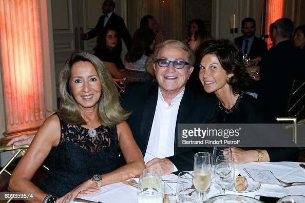 Nicole Coullier Orlando and Sylvie Rousseau attend the Charity Dinner to Benefit 'Claude Pompidou Foundation' following the 'Cezanne et Moi' movie...