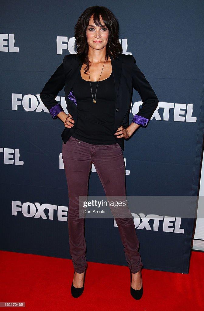 Nicole da Silva attends the 2013 Foxtel Launch at Fox Studios on February 20, 2013 in Sydney, Australia.