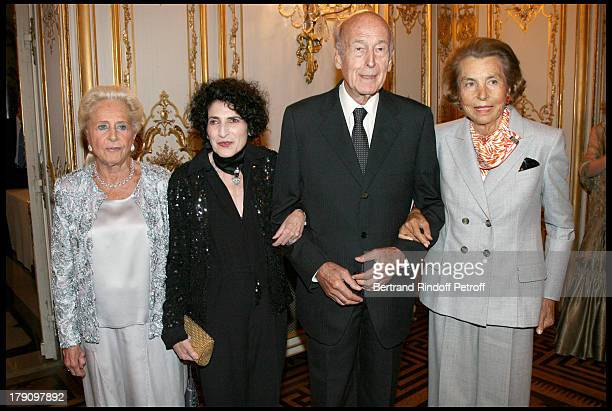 Nicole Dassault Daniele Hermann Valery Giscard D'Estaing and Liliane Bettencourt at Gala Evening For Cardiovascular Research Foundation Institut De...