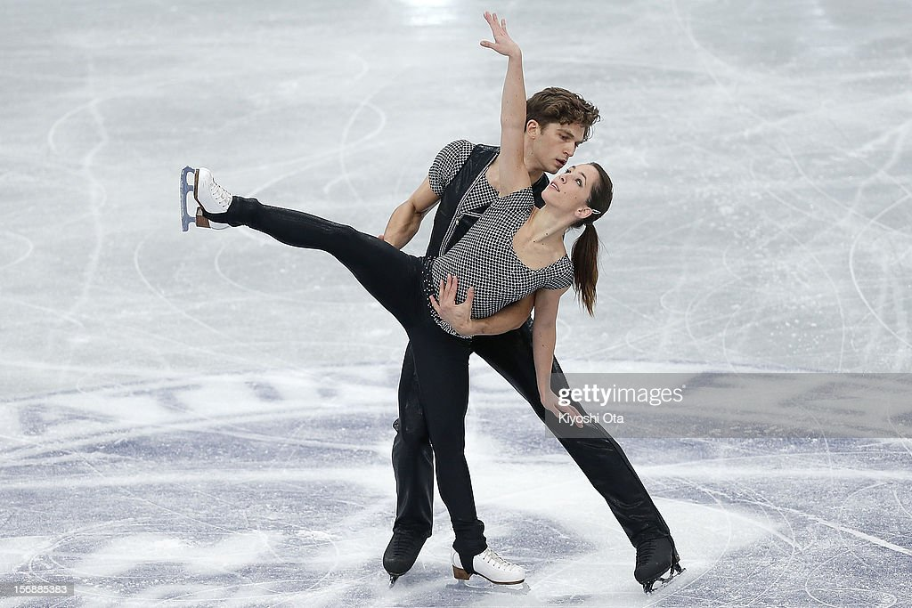 Nicole Della Monica and Matteo Guarise of Italy compete in the Pairs Short Program during day two of the ISU Grand Prix of Figure Skating NHK Trophy at Sekisui Heim Super Arena on November 24, 2012 in Rifu, Japan.