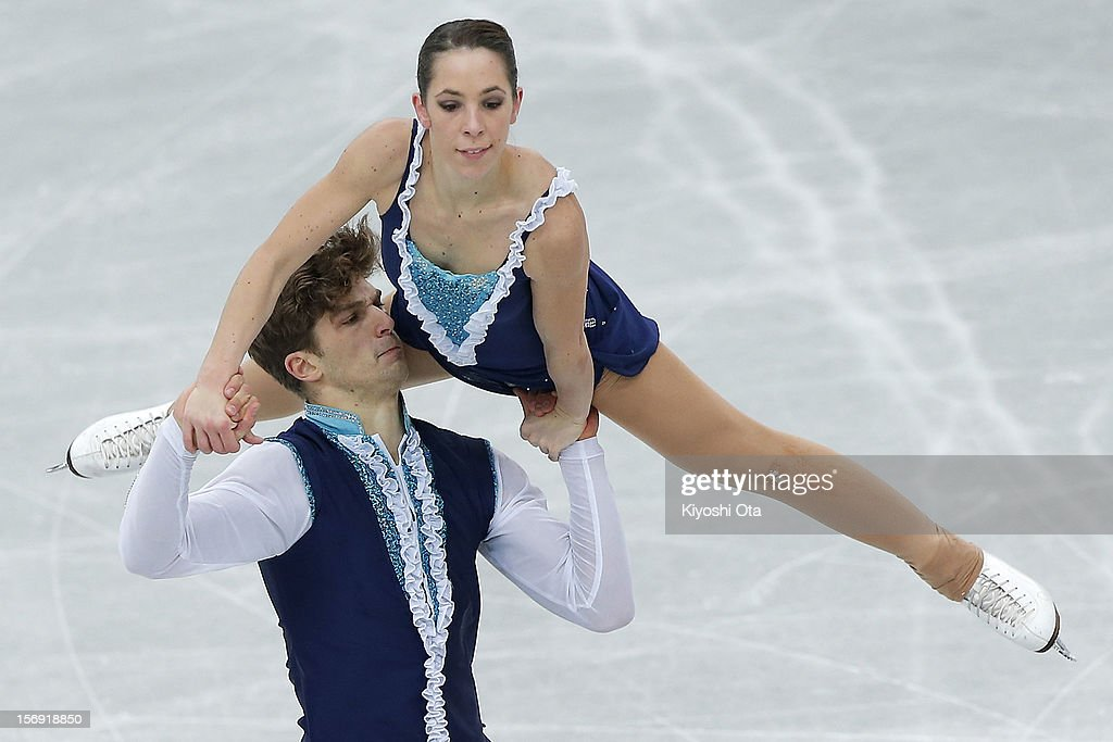 Nicole Della Monica and Matteo Guarise of Italy compete in the Pairs Free Skating during day three of the ISU Grand Prix of Figure Skating NHK Trophy at Sekisui Heim Super Arena on November 25, 2012 in Rifu, Japan.