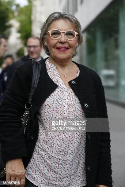 Nicole Dubre candidate in the Maine et Loire 7 constituency for the party La Republique en Marche poses at the entrance of the Quai Branly museum...