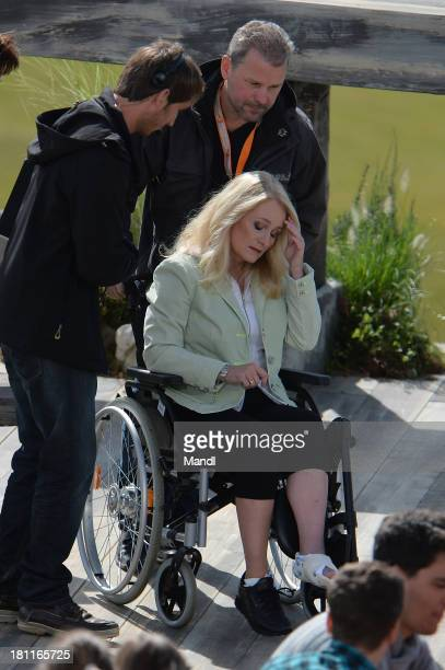 Nicole during the recording of the TV Show 'ZDF Fernsehgarten' at Seiser Alm near Kastelruth on September 18 2013 in Kastelruth Italy