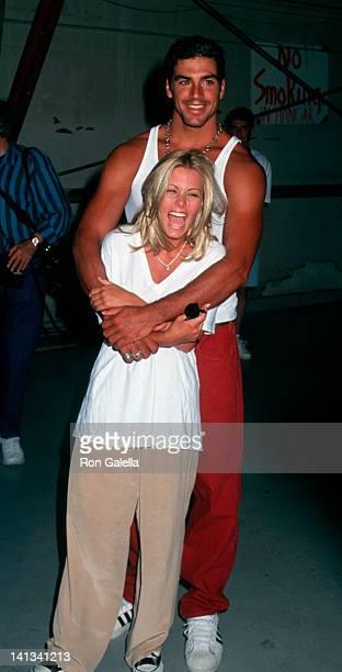 Nicole Eggert and Eric Ettebari at the Starlight Foundation Carnival Barker Hanger Santa Monica Airport Santa Monica