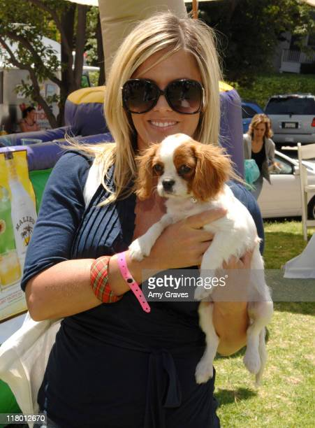 Nicole Eggert and her dog Ella during The Silver Spoon Hosts 4th Annual Dog and Baby Buffet Day One at Wattles Mansion in Hollywood California United...