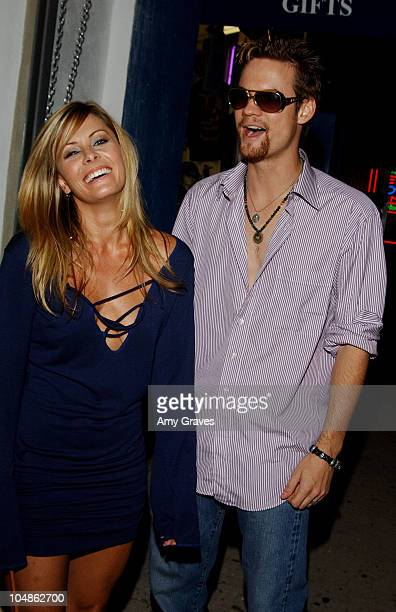 Nicole Eggert and Shane West during Yana K Store Opening at Yana K Store in Los Angeles California United States