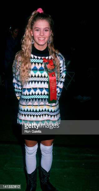 Nicole Eggert at the 1988 Hollywood Christmas Parade KTLA Studios Los Angeles