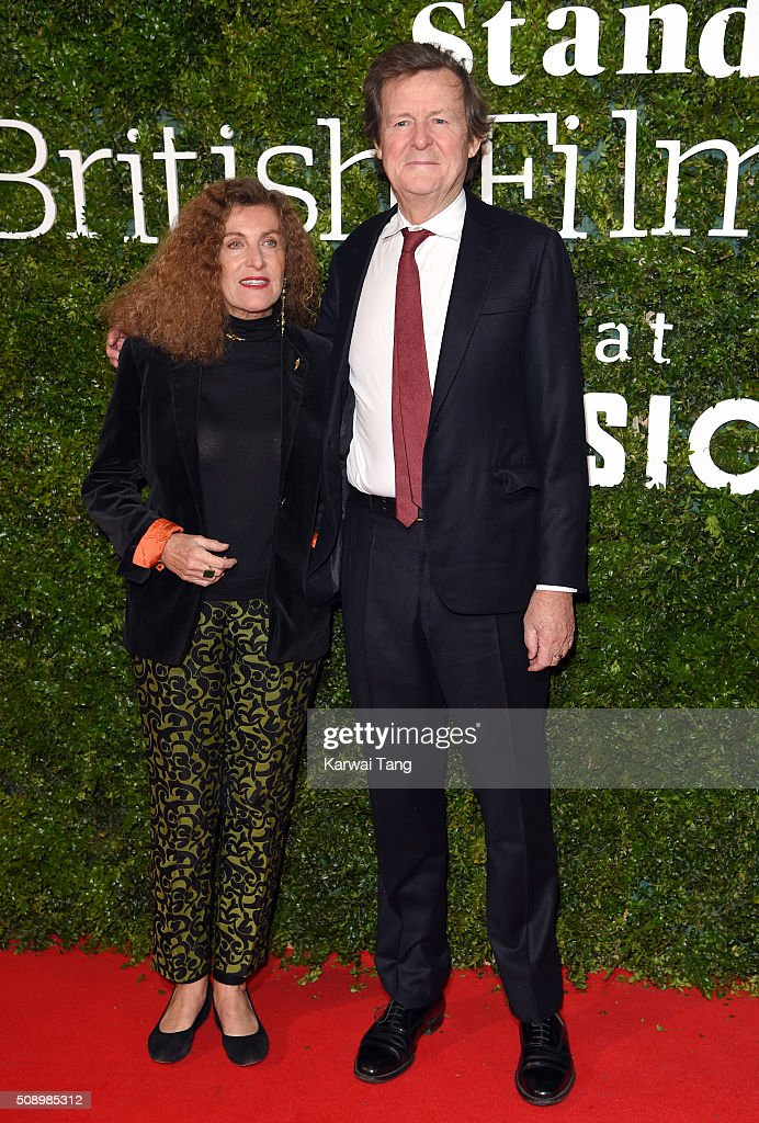 Nicole Farhi (L) and <a gi-track='captionPersonalityLinkClicked' href=/galleries/search?phrase=David+Hare&family=editorial&specificpeople=235927 ng-click='$event.stopPropagation()'>David Hare</a> attend the London Evening Standard British Film Awards at Television Centre on February 7, 2016 in London, England.