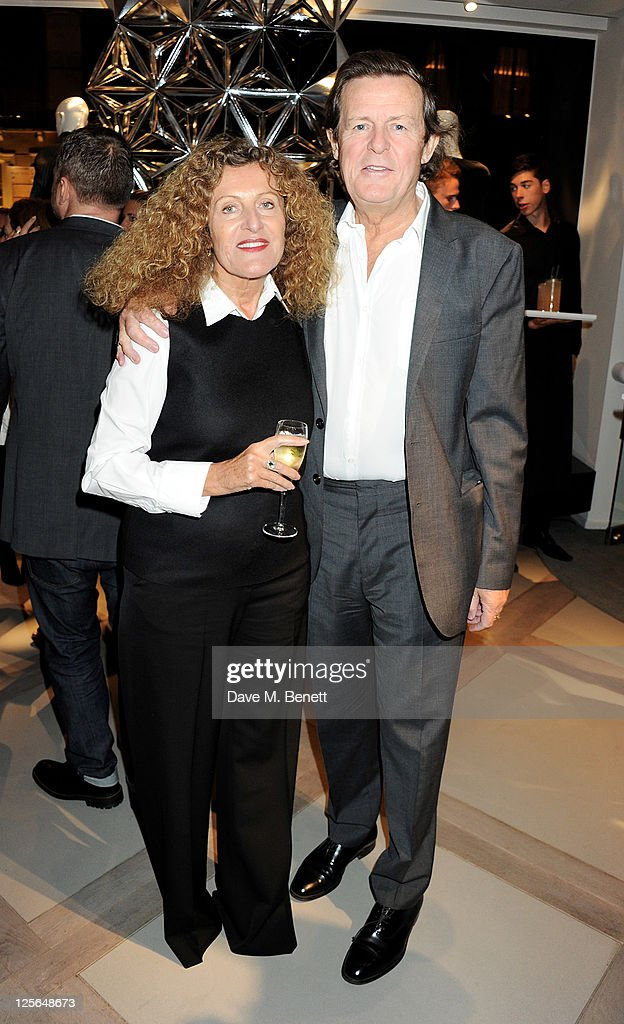 Nicole Farhi (L) and <a gi-track='captionPersonalityLinkClicked' href=/galleries/search?phrase=David+Hare&family=editorial&specificpeople=235927 ng-click='$event.stopPropagation()'>David Hare</a> attend the opening of the Nicole Farhi global flagship store on September 19, 2011 in London, England.