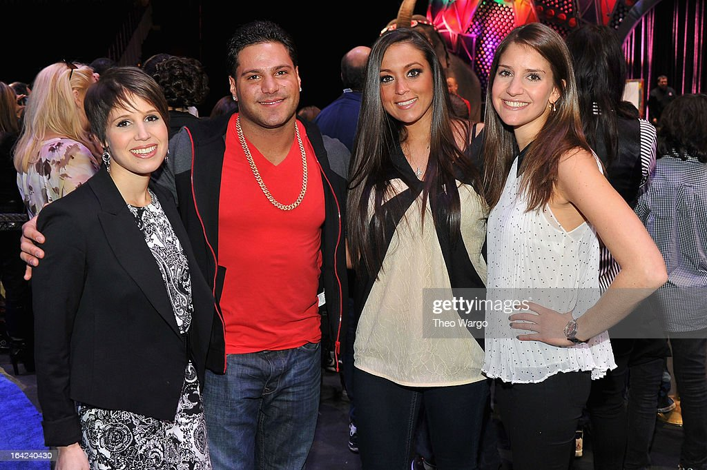 Nicole Feld, Ronnie Magro, Sammi 'Sweetheart' Giancola and Alana Feld attend Ringling Bros. And Barnum & Bailey Present Built To Amaze! on March 21, 2013 in New York City.
