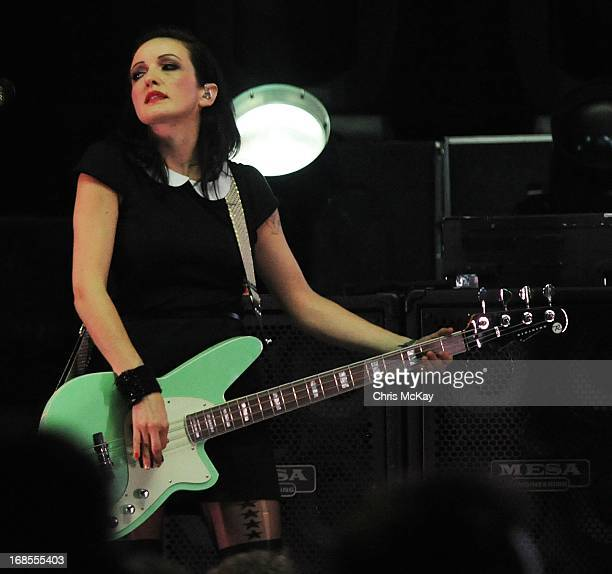 Nicole Fiorentino of Smashing Pumpkins performs at Chastain Park Amphitheater on May 10 2013 in Atlanta Georgia
