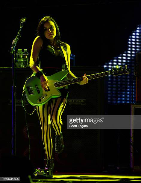 Nicole Fiorentino of Smashing Pumpkins performs during 2013 Rock On The Range at Columbus Crew Stadium on May 18 2013 in Columbus Ohio