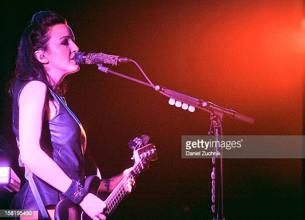 Nicole Fiorentino of 'The Smashing Pumpkins' performs at the Barclays Center on December 10 2012 in the Brooklyn borough of New York City