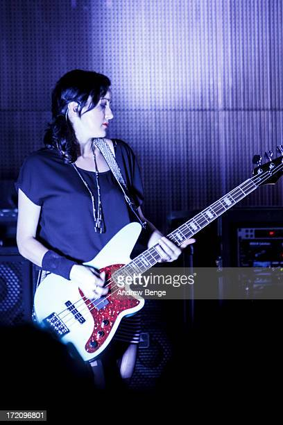 Nicole Fiorentino of The Smashing Pumpkins performs on stage at Manchester Academy on July 1 2013 in Manchester England