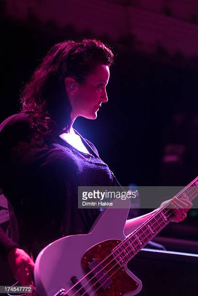Nicole Fiorentino of The Smashing Pumpkins performs on stage at Paradiso on July 26 2013 in Amsterdam Netherlands