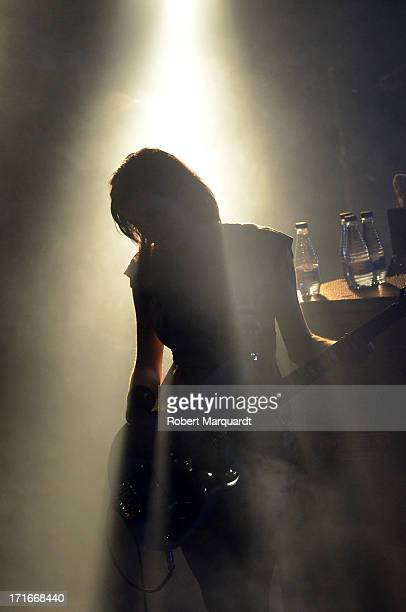Nicole Fiorentino of the Smashing Pumpkins performs on stage at the Razzmatazz on June 27 2013 in Barcelona Spain