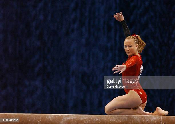 Nicole Ford of Utah in action at the 2004 NCAA Championship Individual Finals at Pauley Pavilion in Westwood California April 17